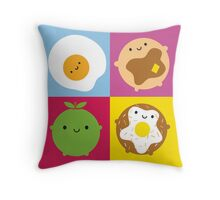 Kawaii Breakfast Throw Pillow