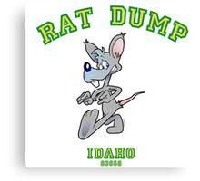RAT DUMP Idaho...go HAWKS! Canvas Print
