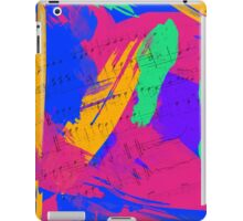 Wild Paint Brush Colors and Music Sheets iPad Case/Skin