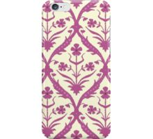 Rosa trellis ikat iPhone Case/Skin