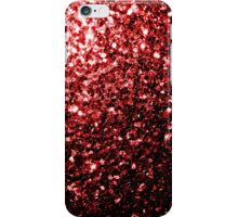 Beautiful Glamour Red Glitter sparkles iPhone Case/Skin