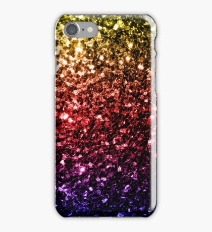 Beautiful rainbow yellow red purple sparkles iPhone Case/Skin