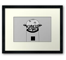 Fish and Gum Framed Print