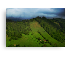 Lonely houses in mountains, Romania, Transylvania Region Canvas Print