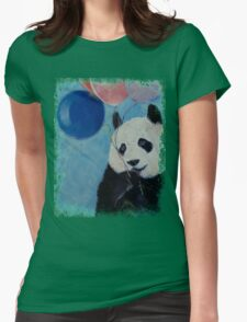 Panda Party Womens Fitted T-Shirt