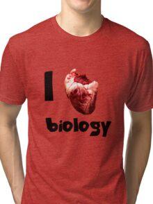I <3 biology Tri-blend T-Shirt