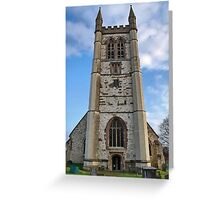 St. Andrews Church Tower. Farnham ,Surrey. Uk. Greeting Card