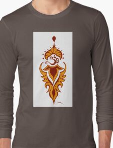 Transformation's Flame on White Long Sleeve T-Shirt