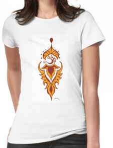 Transformation's Flame on White Womens Fitted T-Shirt