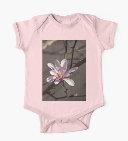 Sunny Pink Magnolia Blossom One Piece - Short Sleeve