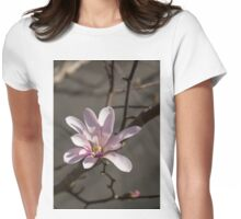 Sunny Pink Magnolia Blossom Womens Fitted T-Shirt