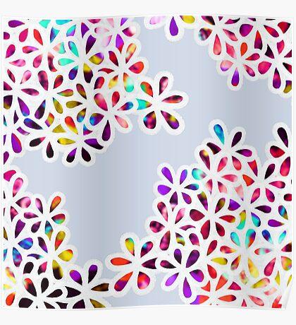 Multi-Colored Petal Flowers Poster