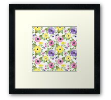 Spring Bouquet Watercolor Framed Print