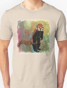 Red Panda Balloon Unisex T-Shirt