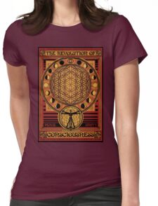 The Revolution of Consciousness | Vintage Propaganda Poster Womens Fitted T-Shirt