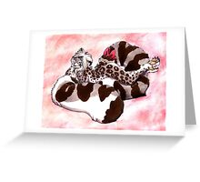 Snow Leopard Girl Greeting Card