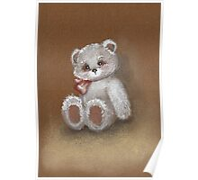 Teddy on toned paper Poster