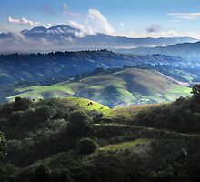 Mount Diablo With Late Season Snow by Gary & Marylee Pope