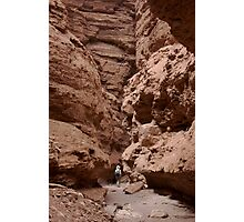 Paria Side Canyon with Hiker Photographic Print