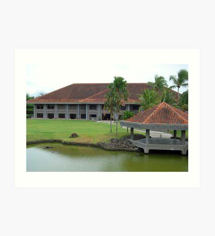 Mt. Malarayat Golf Course Function Hall Art Print
