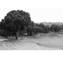 Mt. Malarayat Golf Course in black and white Photographic Print