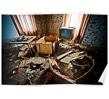 Watching TV Poster