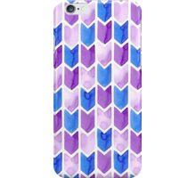 Blue Arrow Watercolor iPhone Case/Skin