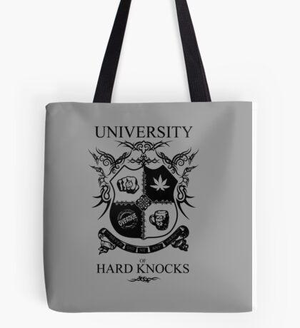 University of Hard Knocks (black) Tote Bag