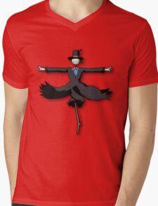 Navet,Howl's Moving Castle Mens V-Neck T-Shirt