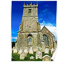 A Different View of All Saints Church.... Godshill Isle of Wight Poster
