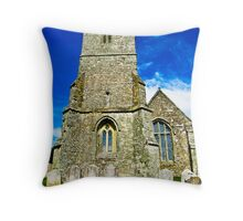 A Different View of All Saints Church.... Godshill Isle of Wight Throw Pillow