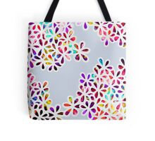 Multi-Colored Petal Flowers Tote Bag