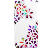 Multi-Colored Petal Flowers Pattern iPhone Case/Skin