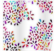 Multi-Colored Petal Flowers Pattern Poster