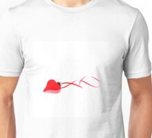 Ruby Red Heart Unisex T-Shirt
