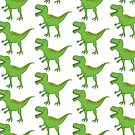 Cute Green T-Rex Dinosaur by artgoddess