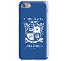 University of Hard Knocks (white) iPhone Case/Skin