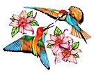 Dancing Hummingbirds by Sheryl Unwin