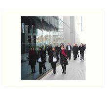 Street Reflections: Southbank London Art Print