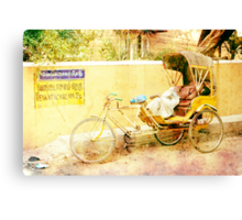 Indian taxi at rest Canvas Print