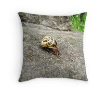 Mr. Snail Throw Pillow