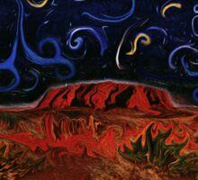 Uluru by Night Sticker