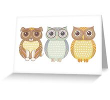 Fluffy Dog and Owl Cousins Greeting Card