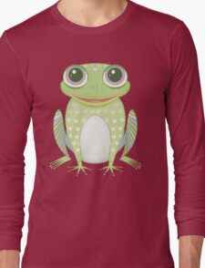 Big Optimistic Frog Long Sleeve T-Shirt