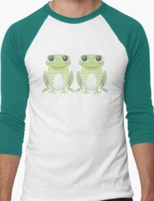 Happy Twin Frogs Men's Baseball ¾ T-Shirt