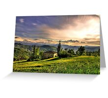 Tramonto a Rosola - (zocca modena italy) -_0786_ Greeting Card
