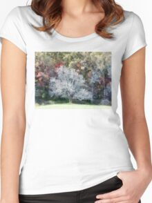 Lone Tree In A Clearing Women's Fitted Scoop T-Shirt