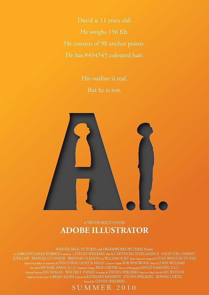 Artificial Intelligence vs. Adobe Illustrator by Viktor Hertz