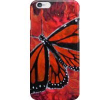 Winged Fire- Monarch Butterfly  iPhone Case/Skin