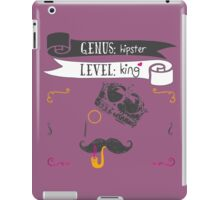 The Hipster King 2.0 iPad Case/Skin